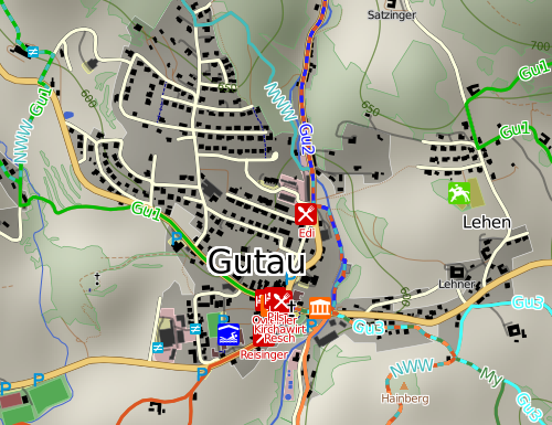 map of central Gutau